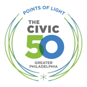 Points of Light The Civic 50 Greater Philadelphia Logo